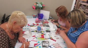 Stamp club Mom Peggy Gina