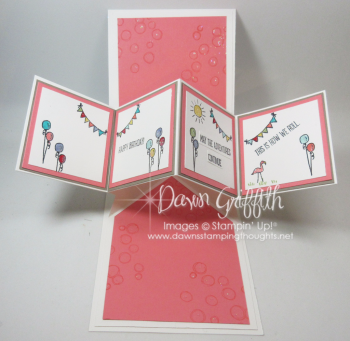 Tommys Mom birthday card Happy Camper inside  Dawn Griffith Stampin Up