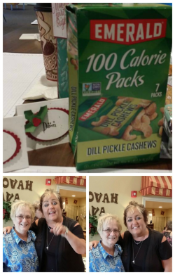 Barb Rey and me at Stamp-a-palooza 2016 Dill pickle  cashews  Dawn Griffith
