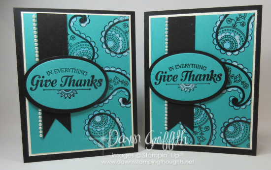 Paisleys and Posies  Give Thanks cards  Dawn Griffith