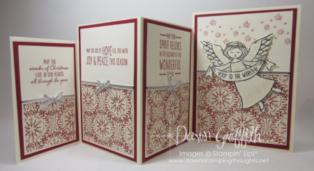 Four Fold Christmas card inside Dawn Griffith
