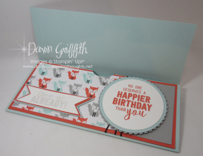 Jessie Birthday card Gift Certificate holder inside Dawn Griffith