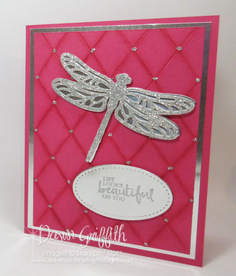 Faux Quilted Background Melon Mambo diamond  Dawn Griffith