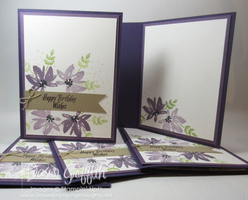Stamp club hostess  cards for Patty  January 2017 Dawn Griffith