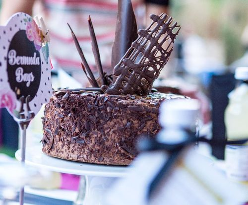YUMMY cake on everyones table  for Welcome dinner FC 2015 Dawn Griffith