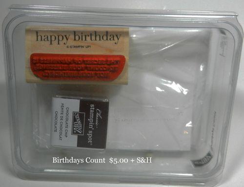 Birthdays Count 5.00 + S&H