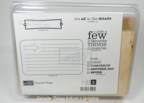 Favorite Things 18.00 + shipping