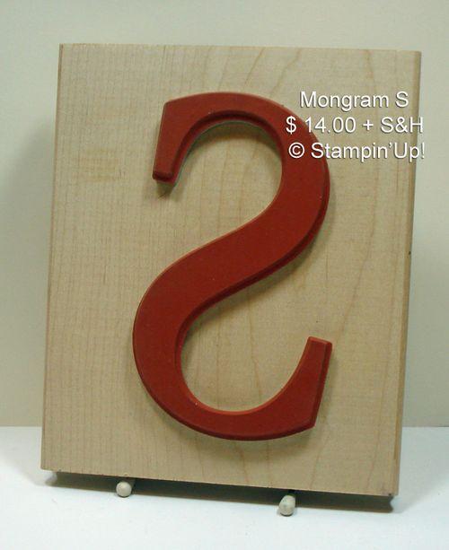 Mongram S $ 8.00 + S&H