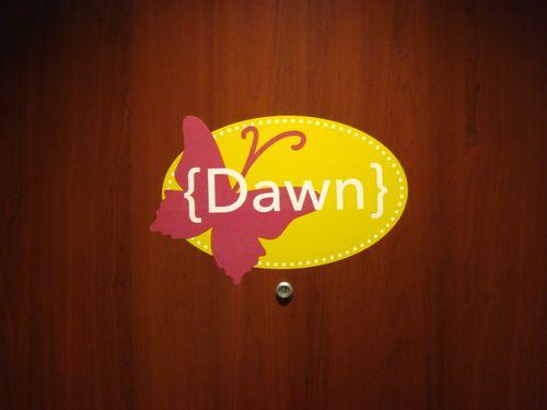 My name on door