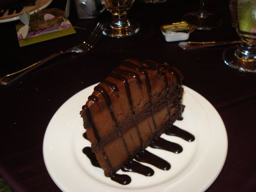 Chocolate cake  at Welcome dinner