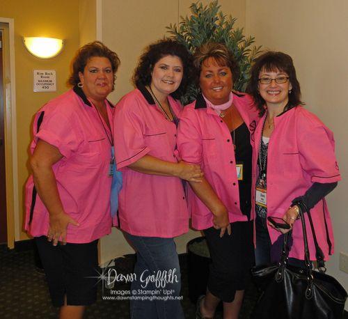 Lovely Pink shirts Lisa, Tiffany, Me and Diana