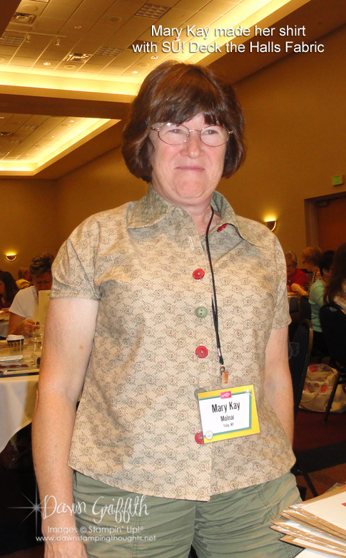 Mary Kay and her fabulous Shirt