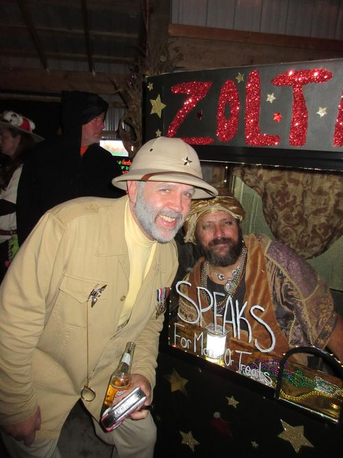 Our Halloween party Host ~ Steve ( Col. Mustard )  with My Zoltar
